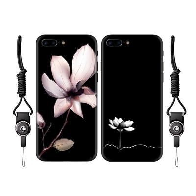 iPhone6手机壳女款苹果7plus套全包文艺软6s硅胶x小清新6plus浮雕挂绳外壳
