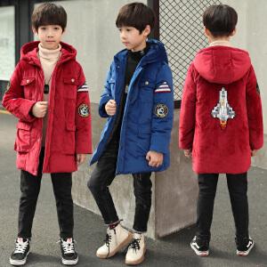 乌龟先森 儿童棉服 男童长袖连帽翻领卡通拉链衫冬季新款韩版儿童时尚休闲舒适百搭中大童外套