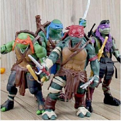 摆件儿童玩具 电影忍者神龟带武器手办模型 拉斐尔关节可活动玩偶