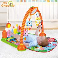 【满199立减100】橙爱 快乐成长钢琴健身架 脚踏钢琴新生儿音乐早教 婴儿玩具