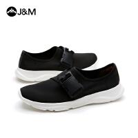 jm快乐玛丽2018春季新款平底搭扣运动套脚休闲鞋舒适男鞋子78063M