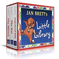 英文原版 Jan Brett's library 汪培�E书单第五阶段木板书3本装Board Book