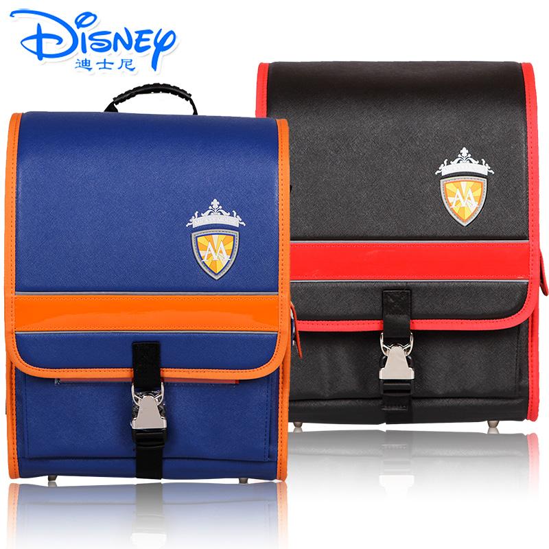 迪士尼男生女生小学生卡通书包减负护脊英伦风书包有买就有送 送笔盒