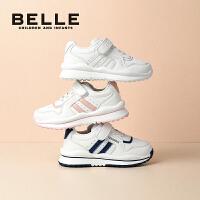 【大牌价:148.9元】百丽童鞋男童小白鞋夏季透气2021新款儿童休闲运动鞋女中大童鞋子