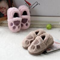 儿童棉拖鞋女童冬季保暖防滑婴幼儿可爱室内家居男童室内宝宝拖鞋