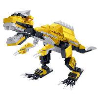 星钻积木 3变积木恐龙系列 塑料拼插拼装儿童玩具 霸王龙 三角龙 翼龙 迅猛龙 剑龙