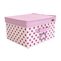 博纳屋 大号收纳箱 圆舞曲衣物整理箱 有盖衬衣收纳盒 衣服收纳箱布艺有盖收纳盒整理箱储物箱衣物紫色