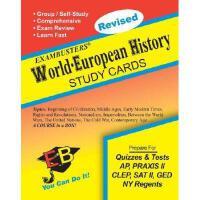 【预订】Exambusters World-European History Study Cards: A
