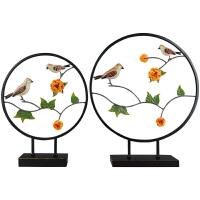 新中式摆件鸟语花香客厅玄关家居装饰品新居礼品实用