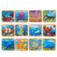 幼儿童木质拼图男女孩宝宝早教益智力玩具2-3-4-6周岁玩具