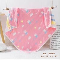 婴儿浴巾棉纱布毛巾被子新出生宝宝抱被宝宝洗澡盖毯儿童空调被M