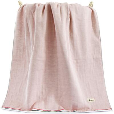 三利 纯棉良品生活大浴巾 A面纱布B面毛圈 70×140cm 柔软舒适吸水裹身巾