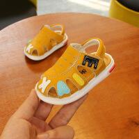 婴儿凉鞋男夏学步鞋婴幼儿宝宝凉鞋包头夏季