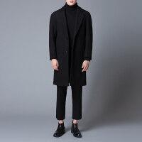 毛呢大衣男2018冬季新款韩版风衣男中长款无羊绒外套双面呢子大衣