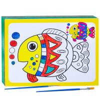 20190711234325880儿童填色画水彩画颜料画涂鸦油画套装diy手工 幼儿园画画涂色画纸