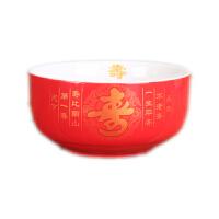 景德镇t陶瓷寿碗订制 答谢礼盒定制烧字 百岁寿 碗勺礼盒祝寿套装 红寿碗(单个碗)