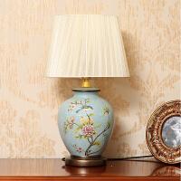 复古古典欧式陶瓷台灯 卧室床头灯客厅装饰摆设 家居装饰品摆件