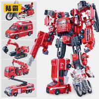 陆战将变形玩具金刚机器人合金版五合体摩托模型