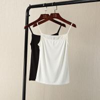 夏装新纯色紧身小吊带背心女修身打底衫内搭吊带衫