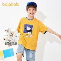 【2件6折价:59.4】【迪士尼IP】巴拉巴拉童装儿童t恤2021新款夏装男童短袖中大童亲子