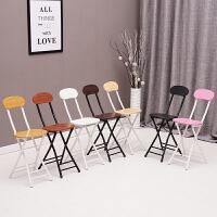折叠椅子家用餐椅靠背椅培训椅学生宿舍椅简约电脑椅便携折叠圆凳