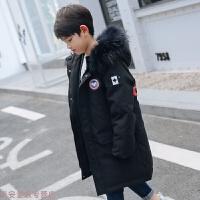 冬季男童羽绒服中长款韩版儿童加厚帅气外套中大童男孩新款童装冬秋冬新款