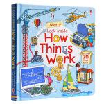 【中商原版】厄斯本看真点 工作流程 英文原版 Look inside how things work 5-8岁 翻翻书