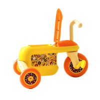 创意新款儿童学步车时尚拉风童车三轮踏行车 3-6岁儿童三轮踏行车儿童轻松三轮踏行车 1008黄色三轮车