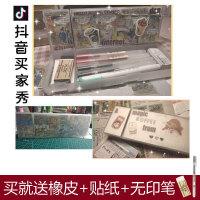 抖音同款网红笔盒塑料MUJI无印良品文具盒磨砂透明学生简约铅笔盒