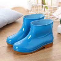 四季中筒短筒水鞋雨靴雨天胶鞋软底成人防滑鞋子低帮洗刷车雨鞋女