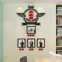 英雄榜亚克力墙贴画办公室装饰公司3d立体激励相框照片墙 特