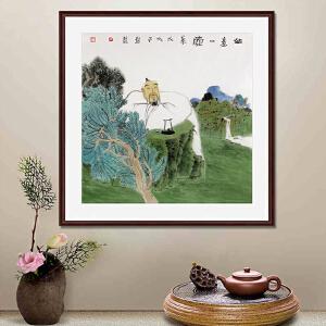 《如意一壶茶》蔡子君 中国美协会员山东漫协理事R1915(画心发货)