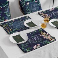 美式花 植物双层西餐垫布艺隔热垫杯垫餐桌垫垫碗盘垫茶垫