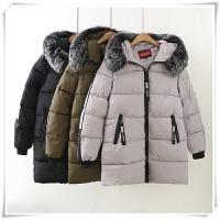 胖mm冬装新款韩版羽绒女200斤宽松大码中长款棉衣保暖外套潮