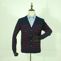 国内单剪标男装冬款保暖假两件衬衫领时尚青年加绒加厚针织打底衫