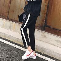 2018春装新韩版学生宽松显瘦百搭高腰小脚哈伦裤子运动休闲裤女