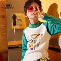 【3件2折:43.8元】小虎宝儿男童t恤长袖纯棉中大童2021春秋儿童打底衫长袖潮