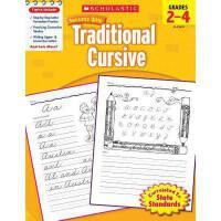 英文原版Scholastic Success With Traditional Cursive, Grades 2-4