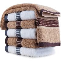 三利 混色6条装 纯棉格子缎档毛巾 32×72cm 柔软吸水洗脸面巾