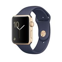Apple Watch Series 1 智能手表(42毫米金色铝金属表壳 午夜蓝色运动型表带 防水溅 蓝牙 MQ12