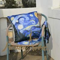 蒙马特大街艺术抱枕沙发靠垫欧美创意布艺靠枕含芯包邮世界名画梵高