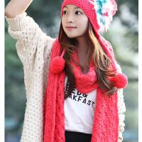 加厚针织围脖潮两用超长 冬季粗毛线围巾韩版女士秋冬天