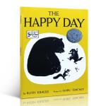 英文原版入门The Happy Day 快乐的日子凯迪克银奖绘本书赠 黑白绘本里的春天 大开本平装 4-8岁 露丝.克