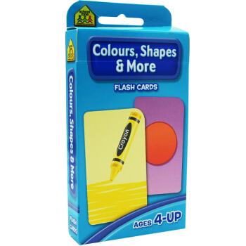 【形状颜色】School Zone Flash Cards Colours Shapes More 英文原版 儿童早教入学准备 字卡闪卡 形状颜色