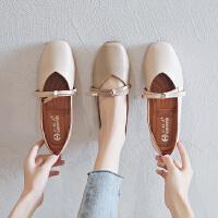 小红人【年终狂欢】2018新款PU单里单鞋女鞋子低跟平底春季英伦系带豆豆鞋女百搭皮鞋女5137