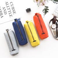 帆布笔袋简约铅笔袋学生文具袋随身便携小收纳包