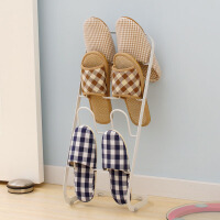 欧润哲 创意多层鞋架 白色简易鞋架拖鞋架 收纳鞋架浴室拖鞋架