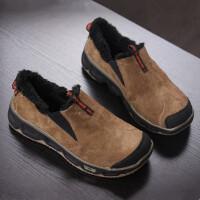 DAZED CONFUSED 潮牌 秋冬季男士加绒一脚蹬徒步鞋 头层牛皮套脚男鞋休闲鞋