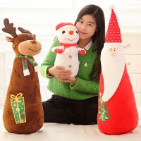 可爱暖手捂抱枕插手毛绒玩具女生圣诞节礼物小雪人圣诞老人公仔