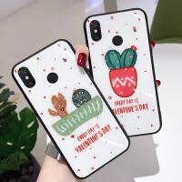 小米max2手机壳硅胶软边防摔全包保护套小米max3手机套个性创意韩国玻璃后盖男女款网红抖音同款ins潮牌新款